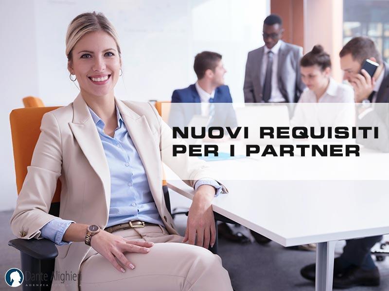 Nuovi requisiti richiesti alle aziende partner