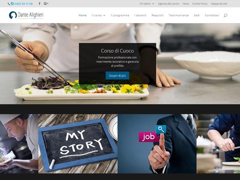 Nuovo layout per il nostro sito del corso cuoco