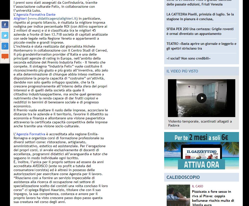 Comunicati Stampa Il Gazzettino
